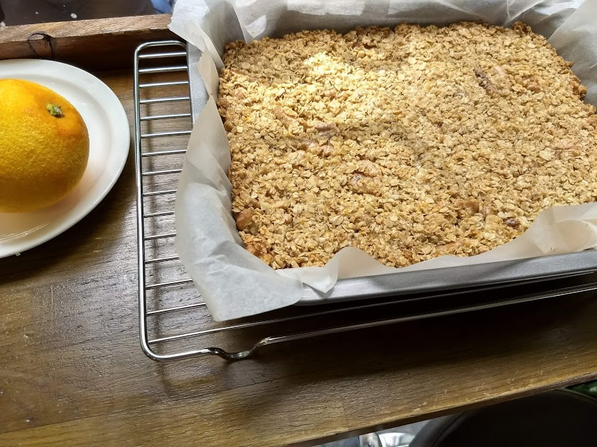 Orange, Honey and Walnut Flapjack