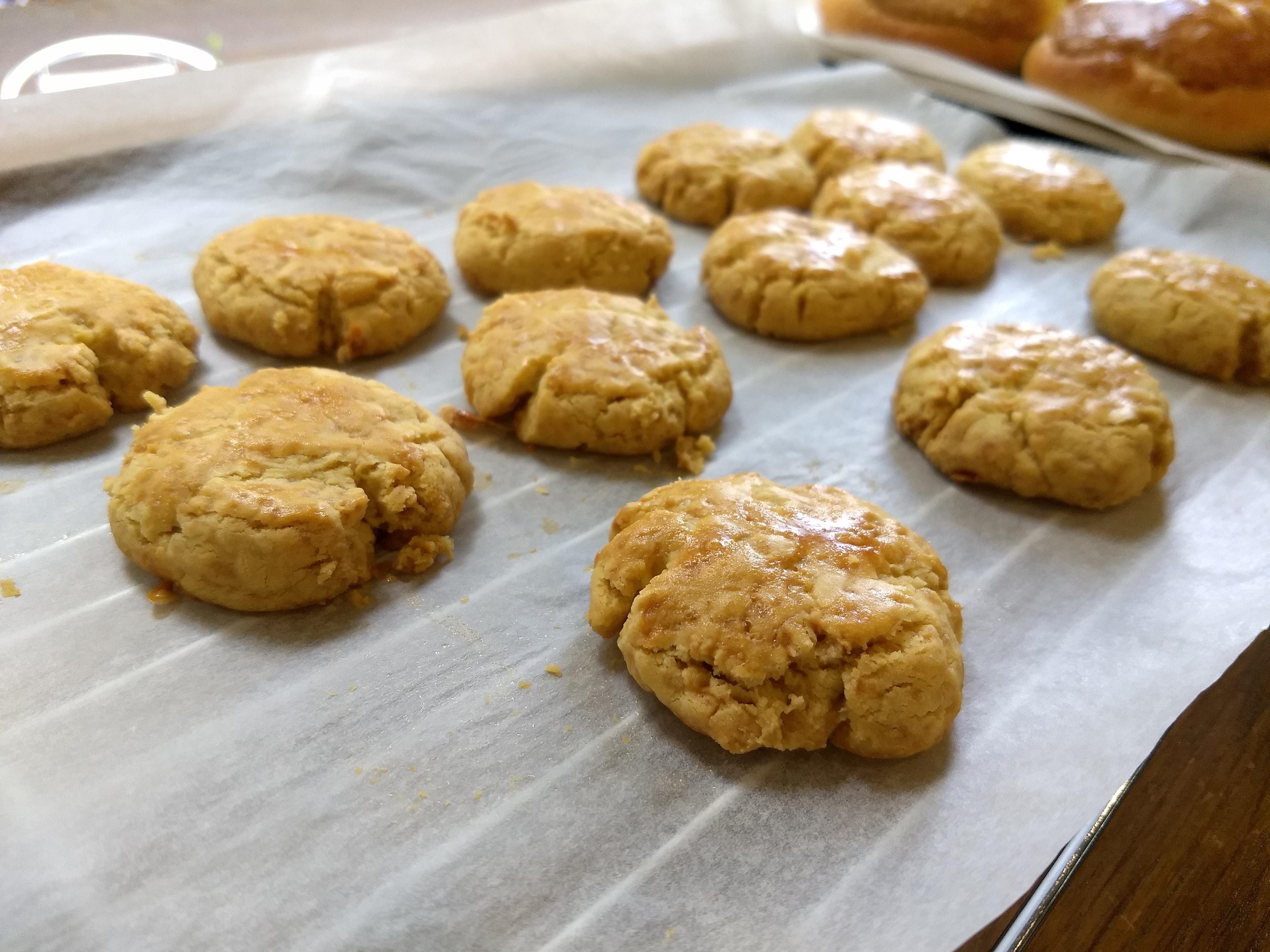 咸蛋曲奇 Salted egg yolk cookies